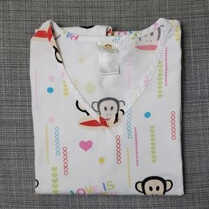Paul Frank medical scrub top size S